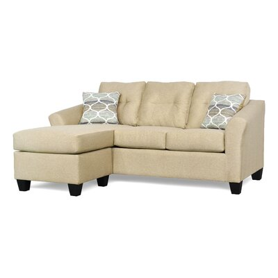 Desales Reversible Sectional Upholstery Color: Melody Wheat by Andover Mills