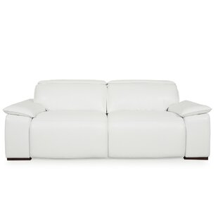 Atilla Top Grain Motorized Sofa Orren Ellis