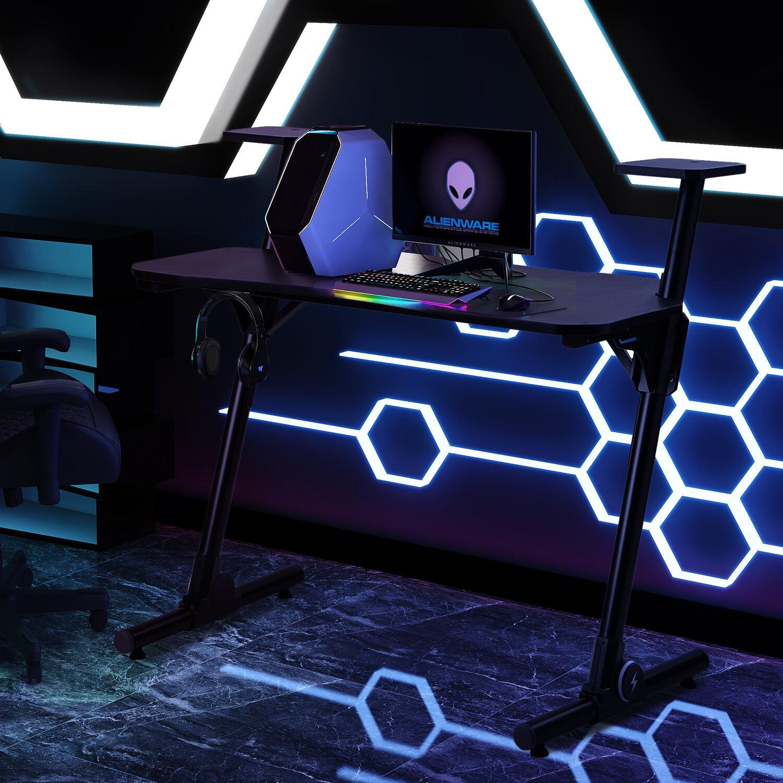Inbox Zero Home Office Height Adjustable Gaming Desk Wayfair