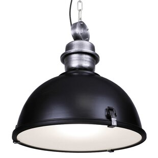 Gracie Oaks Mcinerney Industrial Hanging 1-Light Dome Pendant