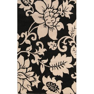 Find Aubree Agra Indian Oriental Hand-Tufted Wool Black/White Area Rug By Winston Porter
