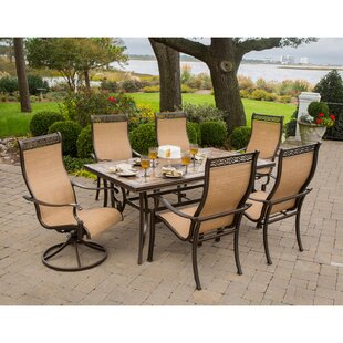 Carlee 7 Piece Outdoor Dining Set