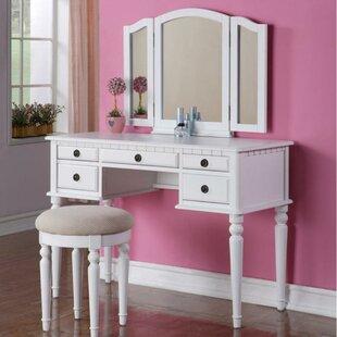 Rosdorf Park Alligood Vanity Set with Mirror