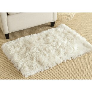 Buy luxury Hamlin Hand-Tufted White Area Rug By Mercer41