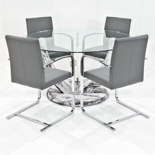 Titus Dining Set With 4 Chairs By Metro Lane