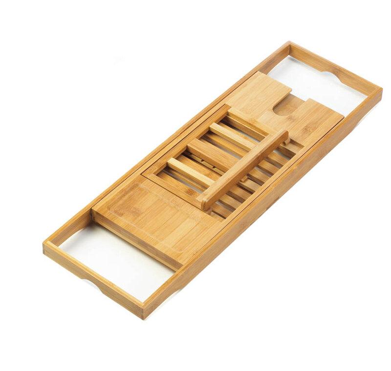Millwood Pines Thach Bamboo Bath Caddy & Reviews   Wayfair