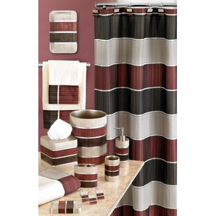 Low priced Aaronsburg Traditional Chic Striped Fabric Shower Curtain By Alcott Hill