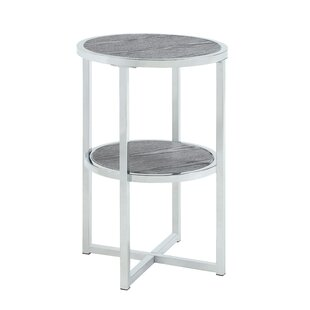 Nermin Cross Legs End Table With Storage By Orren Ellis