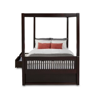 Oakwood Full Canopy Bed with Drawers