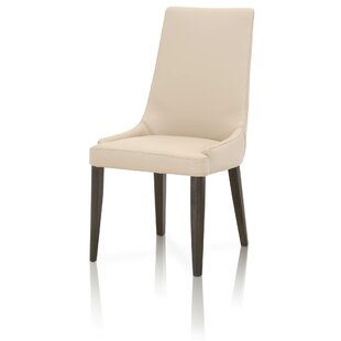 Berner Genuine Leather Upholstered Dining Chair (Set of 2) by Brayden Studio