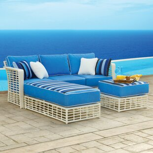 Melrose 3 Piece Sunbrella Sectional Set with Cushions by Meadow Decor