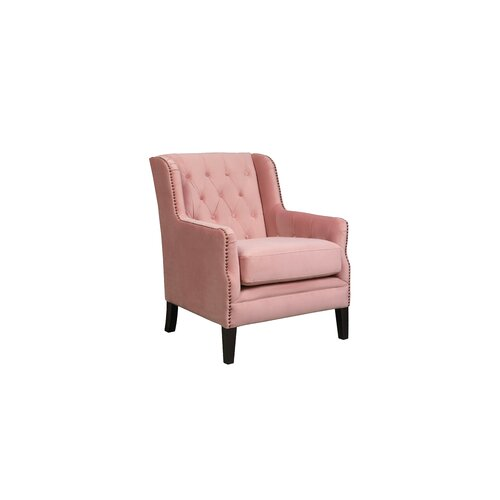 Romy Wingback Chair Canora Grey Upholstery Colour: Blush