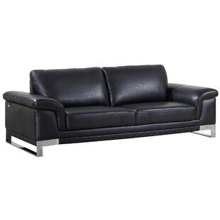 Orren Ellis Hawkesbury Common Leather Sofa