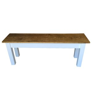 Early American Farmhouse Bench by Ezekiel and Stearns
