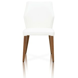 Mitton Upholstered Solid Wood Solid Back Side Chair Alabaster (Set Of 2) By Latitude Run