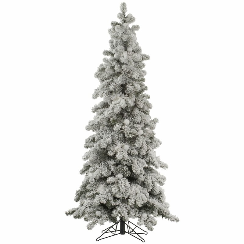 The Holiday Aisle Flocked Kodiak 6' White Spruce Artificial ...