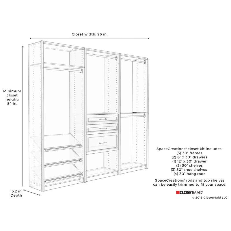 Closetmaid Spacecreations 96 Closet System Wayfair