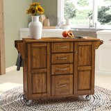 Legler-a-Cart Kitchen Island with Solid Wood Top by Millwood Pines