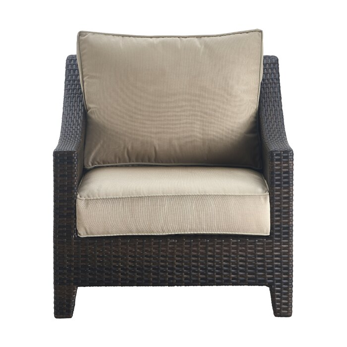 Serta At Home Tahoe Outdoor Wicker Patio Chair With Cushions