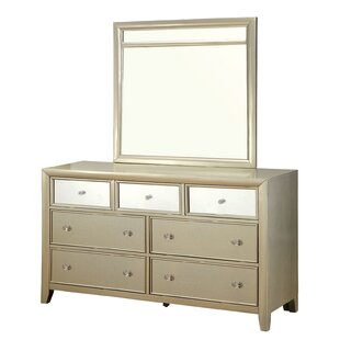 Ashmont 7 Drawer Dresser with Mirror