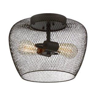 Reviews Woodland 2-Light Flush Mount By Trent Austin Design