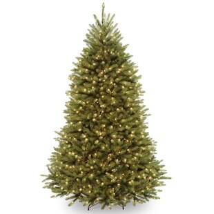 Fir 6.5' Hinged Green Artificial Christmas Tree with 650 Clear Lights
