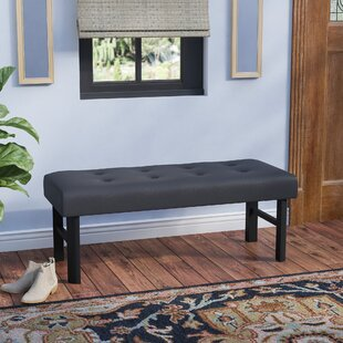 Fenster Faux Leather Bench