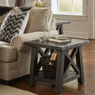 Mabie Pine Wood End Table By Williston Forge