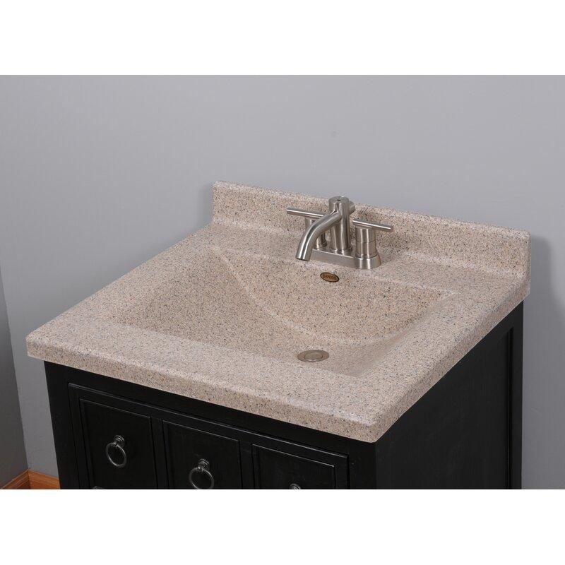 Center Wave 25 Single Bathroom Vanity Top