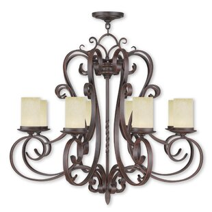 Fleur De Lis Living Bressler 8-Light Shaded Chandelier