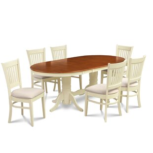 Bellino 7 Piece Extendable Solid Wood Din..
