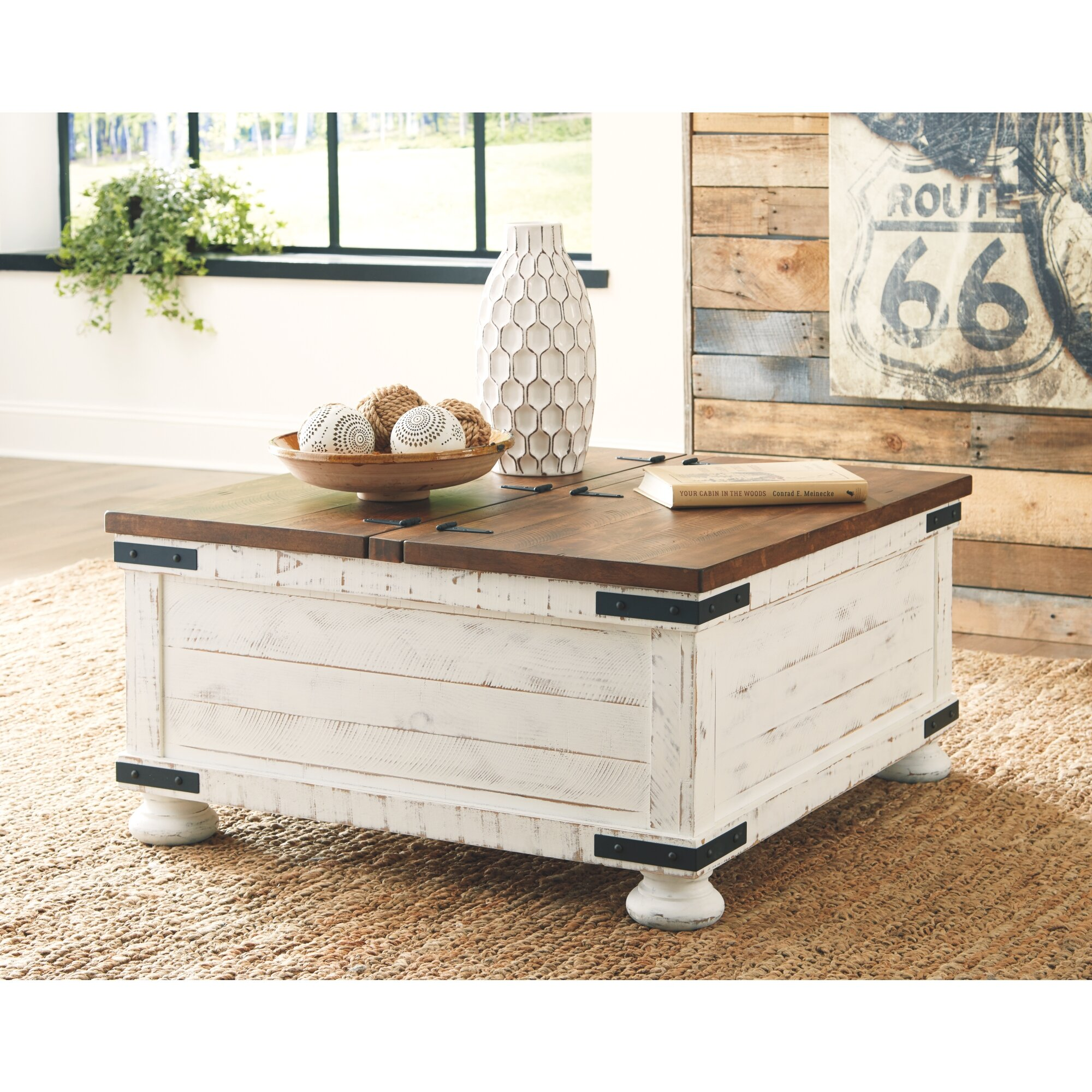 - Laurel Foundry Modern Farmhouse Darian Coffee Table With Storage