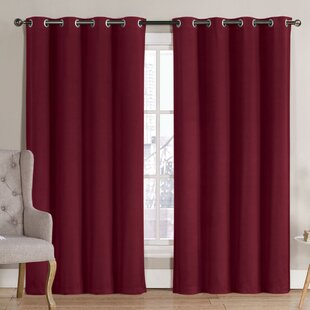 Solid Blackout Thermal Grommet Curtain Panels (Set of 2) by Ruthy's Outlet