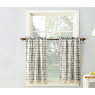 Maisie Plaid Cafe Curtain Set Of 2