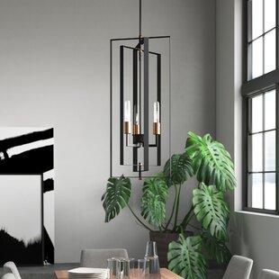 Dewees 3-Light Geometric Chandelier by Mercury Row