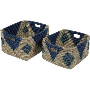 Beau Navy Blue Baskets | Wayfair