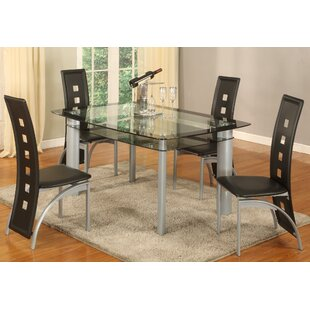 Metro 5 Piece Dining Set by Global Trading Unlimited