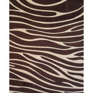 Melody Brown Zebra Animal Print Rug