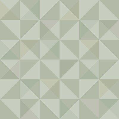 Brewster Home Fashions Wall Vision 33 x 20.9 Dabria Geometric Wallpaper Color: Green