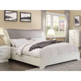 Everly Quinn Evangelina Twin Upholstered Low Profile Platform Bed Wayfair