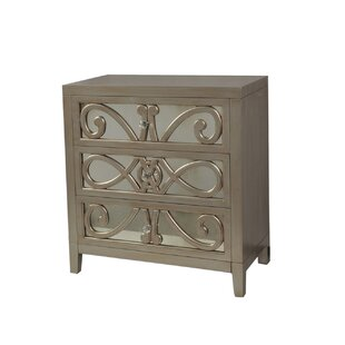 Catrina 3 Drawer Accent Chest by Rosdorf Park