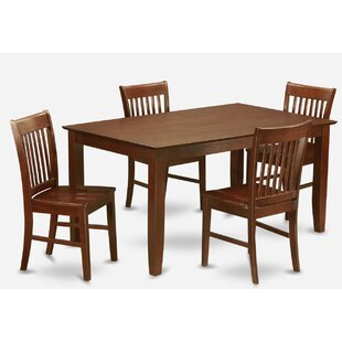 Smyrna 5 Piece Dining Set Charlton Home
