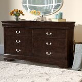 Polegate 6 Drawer Double Dresser by Alcott Hill®
