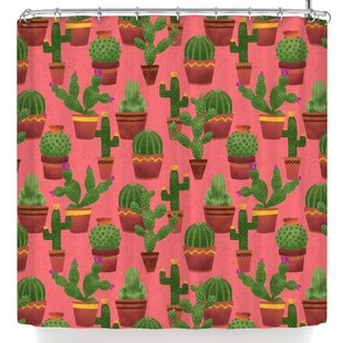 Noonday Design Terra Cotta Cacti On Single Shower Curtain