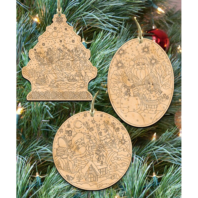 The holiday aisle 3 piece do it yourself christmas ornament set 3 piece do it yourself christmas ornament set solutioingenieria Image collections