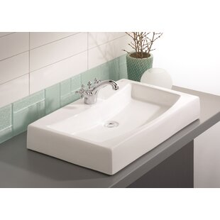 Cheviot Products Mediterranean Vitreous China Rectangular Vessel Bathroom Sink