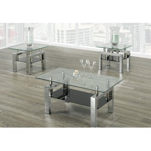 Odelia 3 Piece Coffee Table Set