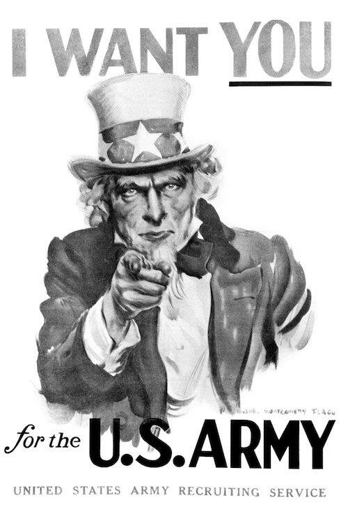 East Urban Home 1910s World War One I Want You Uncle Sam United States Army Recruiting Poster Textual Art On Wrapped Canvas Wayfair
