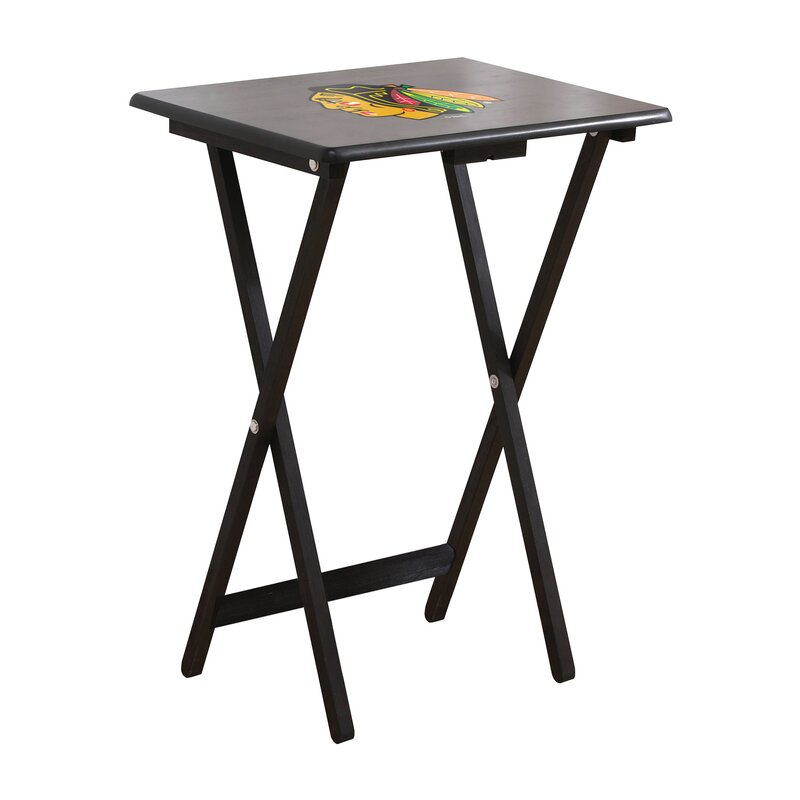 Imperial Nhl Tv Tray Table Set Set Of 4 Reviews Wayfair