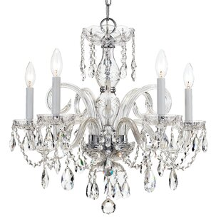 Willa Arlo Interiors Careen 5-Light Glass Candle Style Chandelier